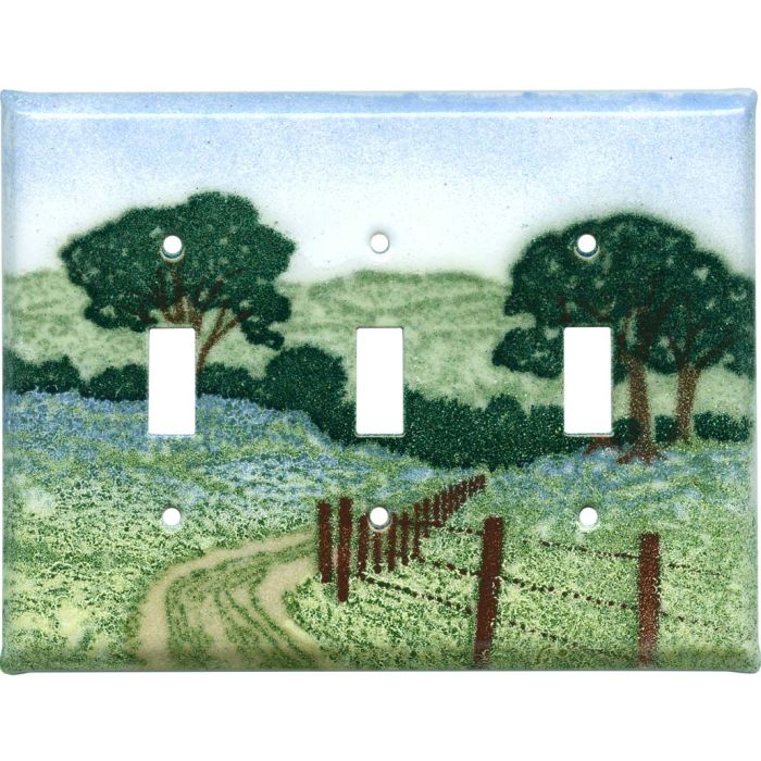 Country Road Triple 3 Toggle Light Switch Covers