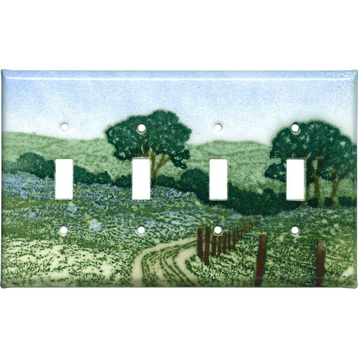Country Road Quad 4 Toggle Light Switch Covers