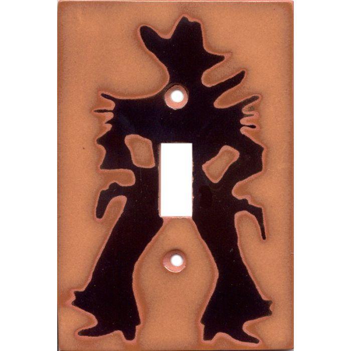 CowboySingle 1 Toggle Light Switch Plates