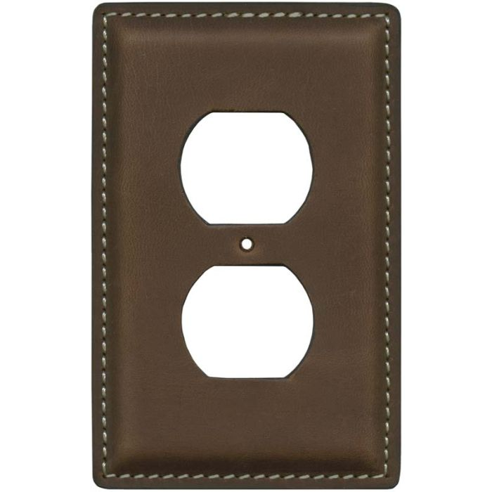 Crazy Horse Tan 1 Gang Duplex Outlet Cover Wall Plate
