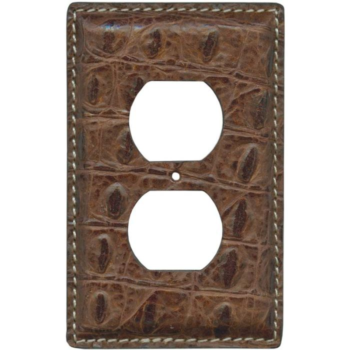 Crocodile Embossed 1 Gang Duplex Outlet Cover Wall Plate