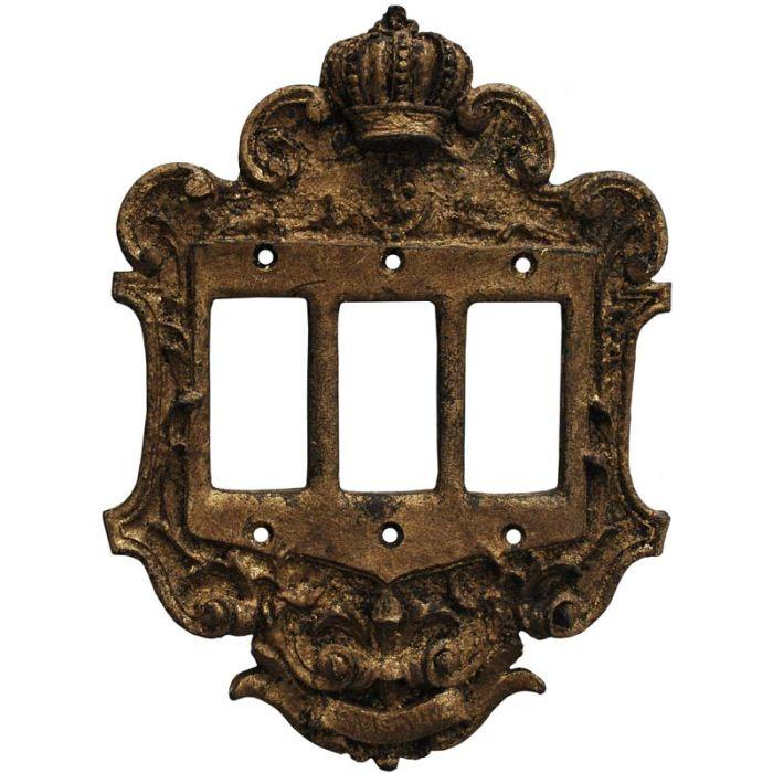 Crown Renaissance Triple 3 Rocker GFCI Decora Light Switch Covers