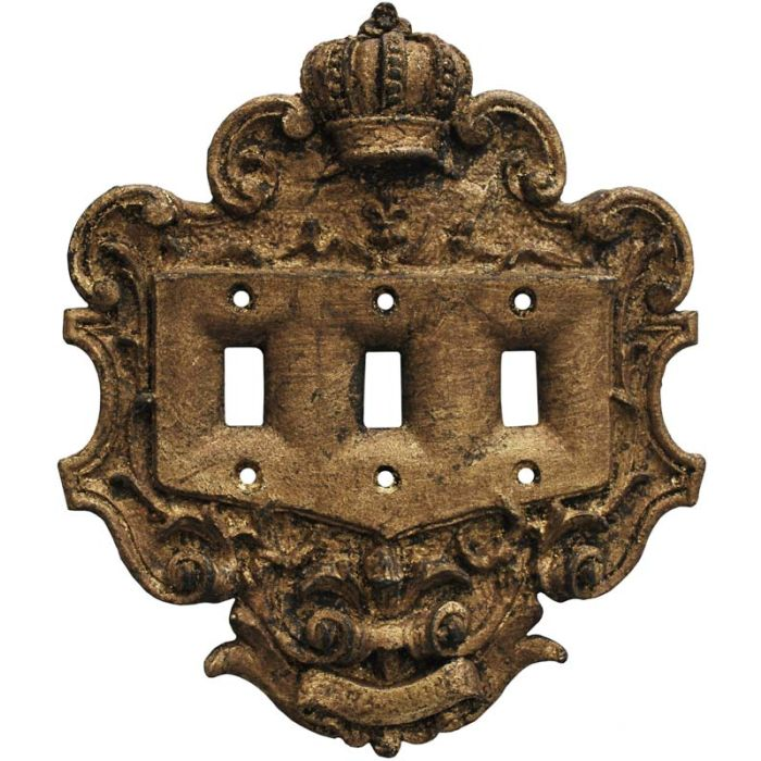 Crown Renaissance Triple 3 Toggle Light Switch Covers