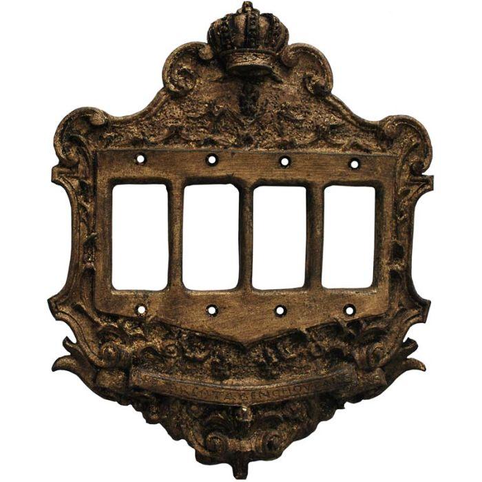 Crown Renaissance 4 Rocker GFCI Decorator Switch Plates