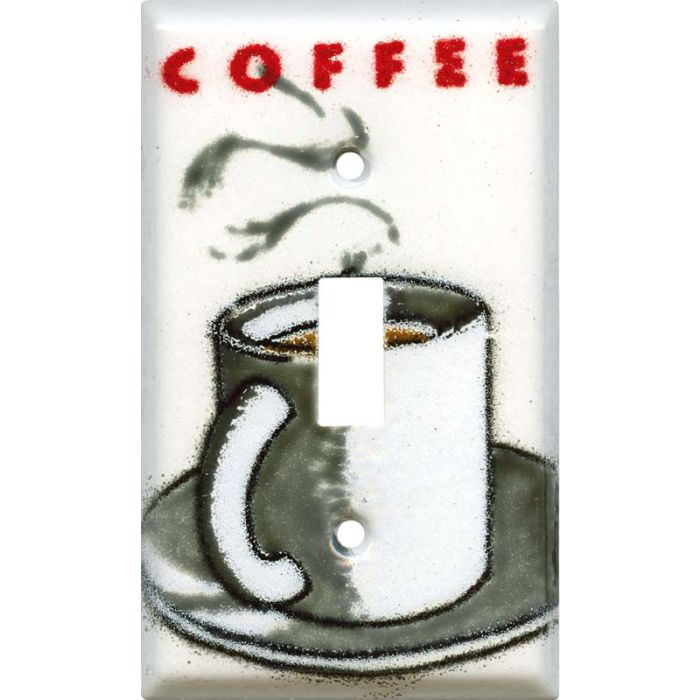 Cuppa Coffee Single 1 Toggle Light Switch Plates