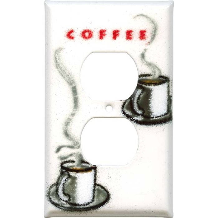 Cuppa Coffee 1 Gang Duplex Outlet Cover Wall Plate