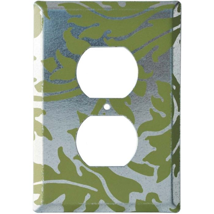 Damask Chroma 1 - Gang Duplex Outlet Cover Wall Plate