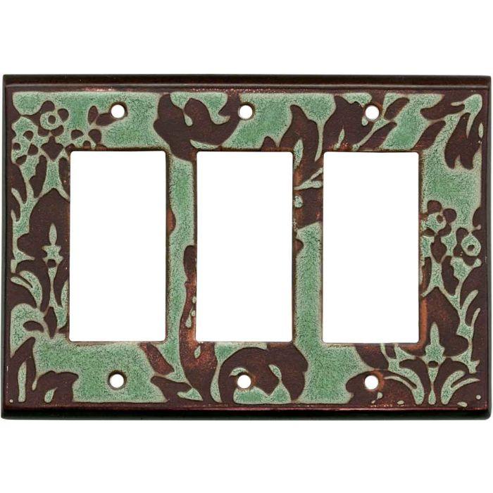 Damask Turquoise Ceramic3 - Rocker / GFCI Decora Switch Plate Cover