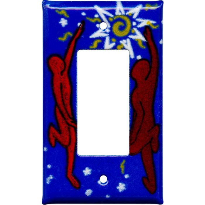 Dancers1-Gang GFCI Decorator Rocker Switch Plate Cover