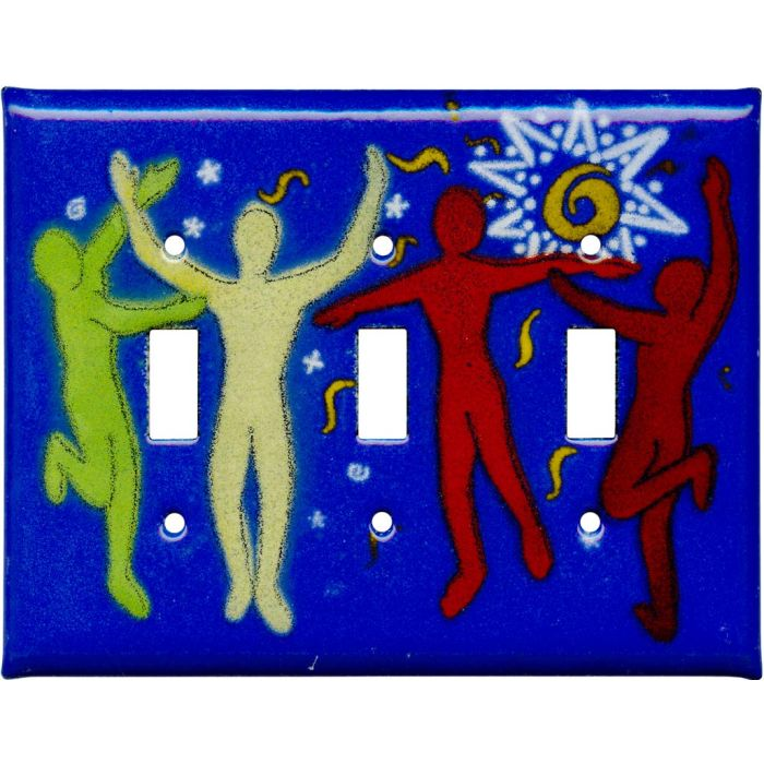 Dancers Triple 3 Toggle Light Switch Covers