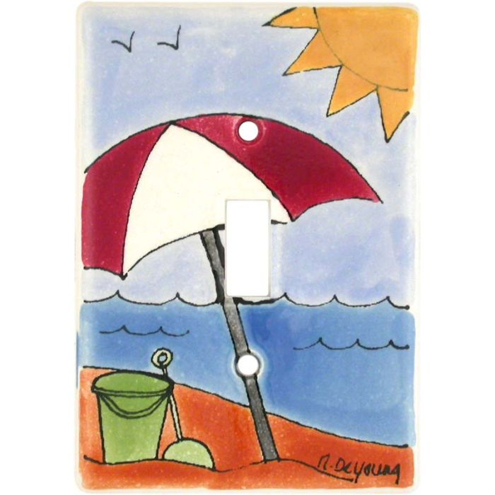 Day at the Beach Single 1 Toggle Light Switch Plates