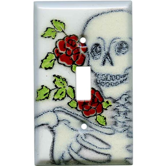 Day of the Dead Single 1 Toggle Light Switch Plates