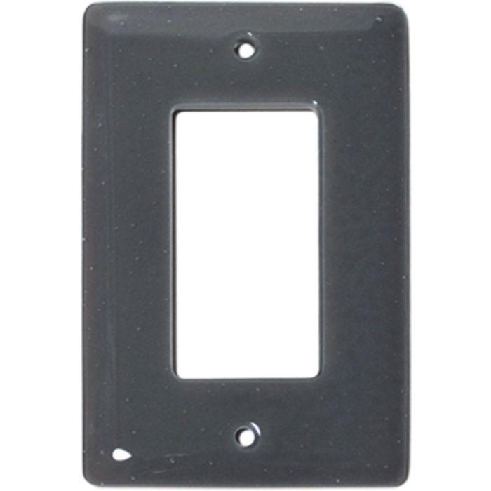 Deco Gray Glass Single 1 Gang GFCI Rocker Decora Switch Plate Cover