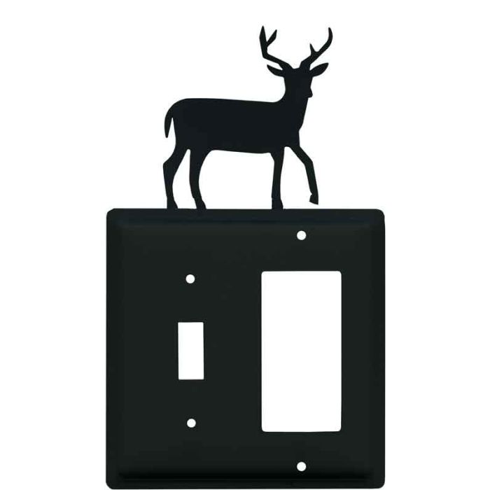 Deer Combination 1 Toggle / Rocker GFCI Switch Covers