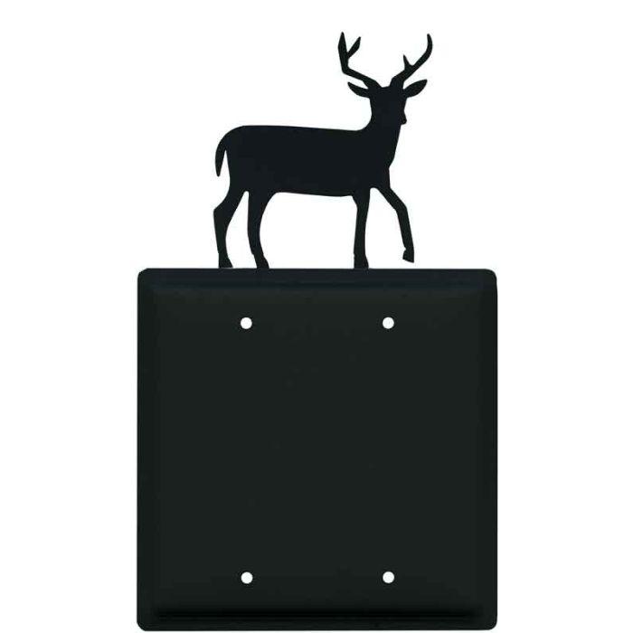 Deer Double Blank Wallplate Covers