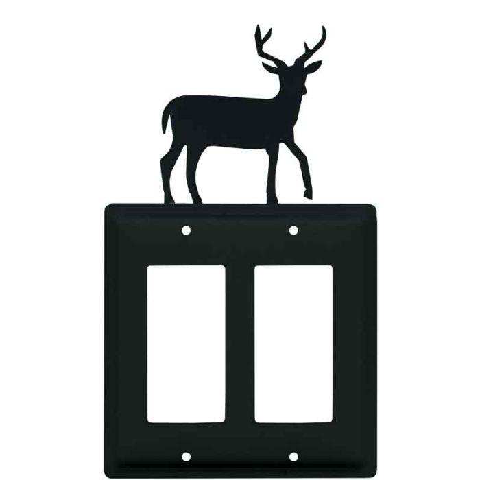 Deer 2 Gang Double GFCI Rocker Decorator Wallplates