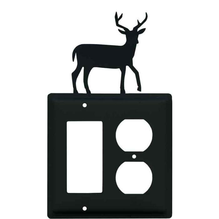 Deer Combination GFCI Rocker / Duplex Outlet Wall Plates