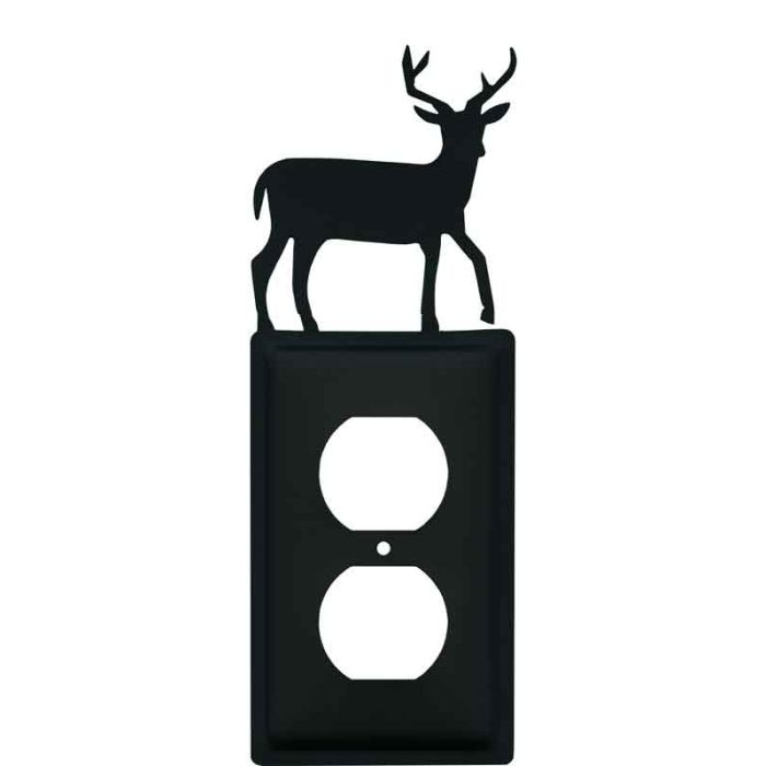 Deer 1 Gang Duplex Outlet Cover Wall Plate
