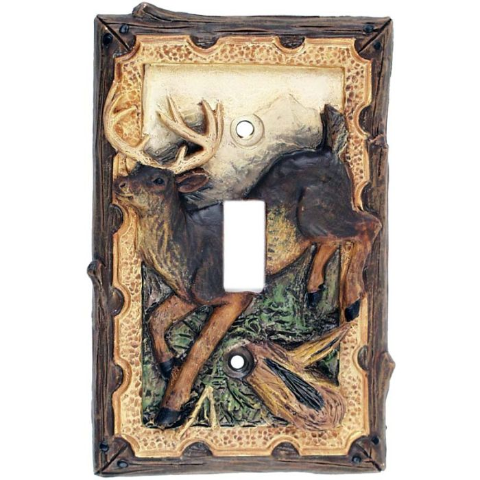 Deer in the Woods Single 1 Toggle Light Switch Plates