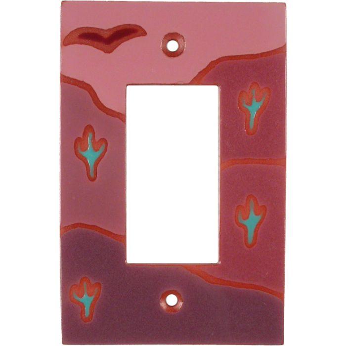 Desert Beauty Single 1 Gang GFCI Rocker Decora Switch Plate Cover