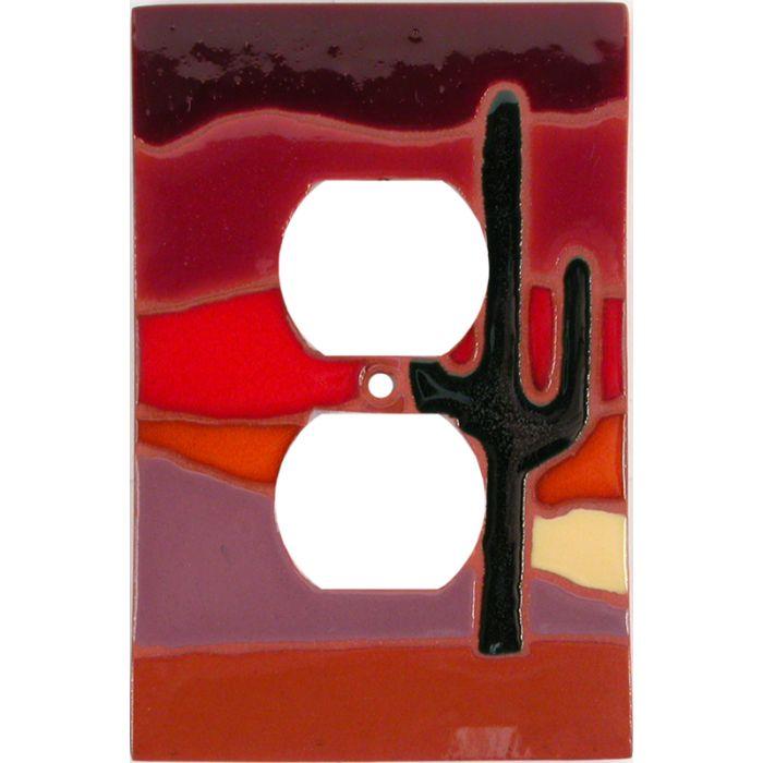 Desert Dusk 1 Gang Duplex Outlet Cover Wall Plate