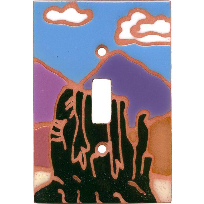 Desert Rocks Single 1 Toggle Light Switch Plates