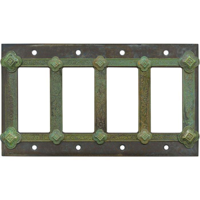 Design 4 Rocker GFCI Decorator Switch Plates