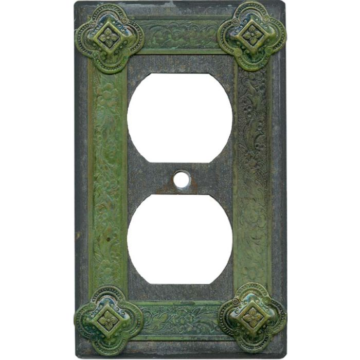 Design 1 Gang Duplex Outlet Cover Wall Plate