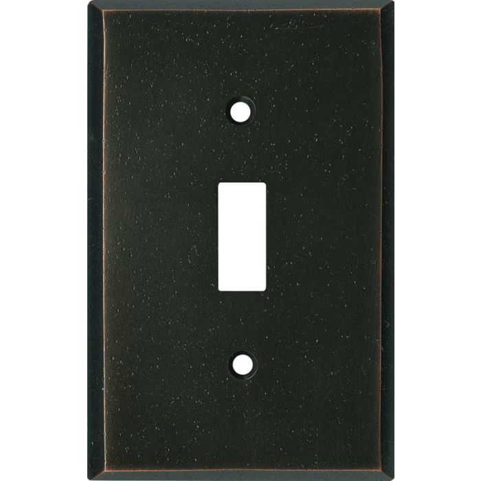 Distressed Antique Bronze - Single Toggle Switch Plates