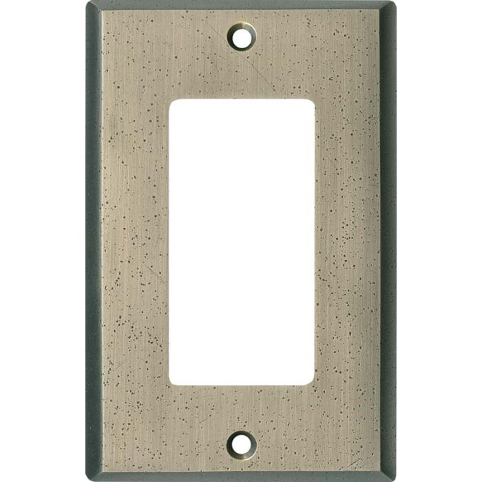 Distressed Antique Pewter Single 1 Gang GFCI Rocker Decora Switch Plate Cover
