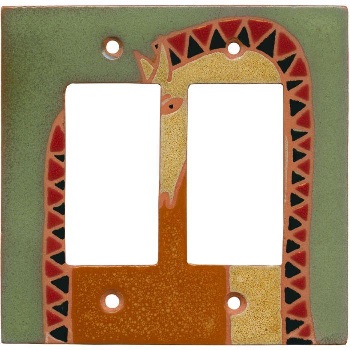 Double Horse - 2 Gang Double GFCI Rocker Wallplates
