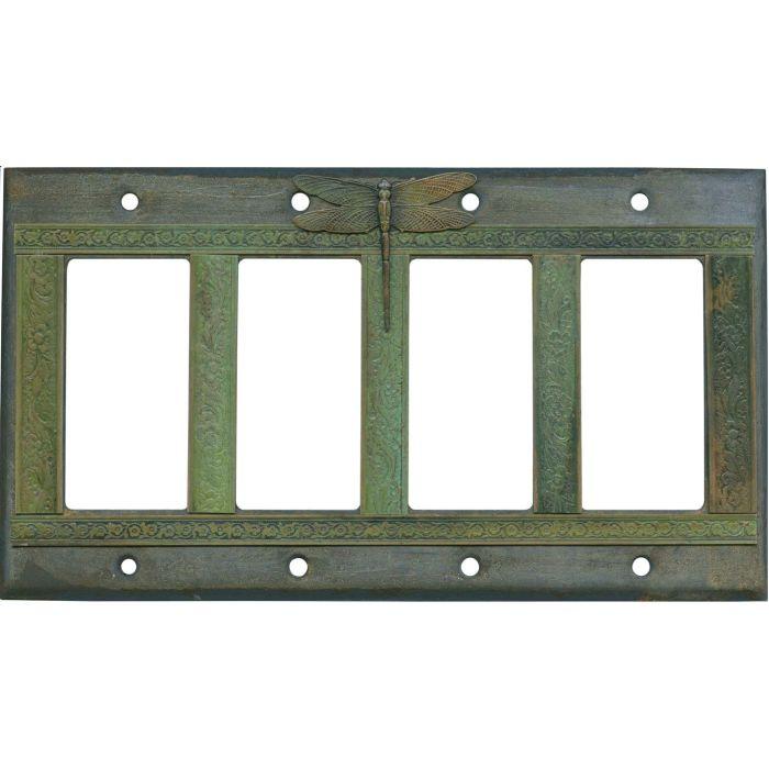 Dragonfly 4 Rocker GFCI Decorator Switch Plates
