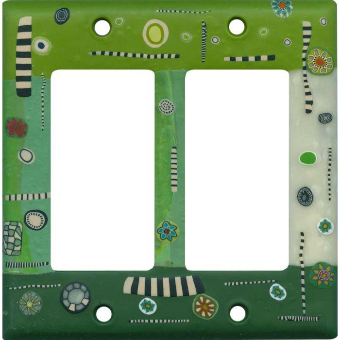 Dreamweaver Green 2 Gang Double GFCI Rocker Decorator Wallplates