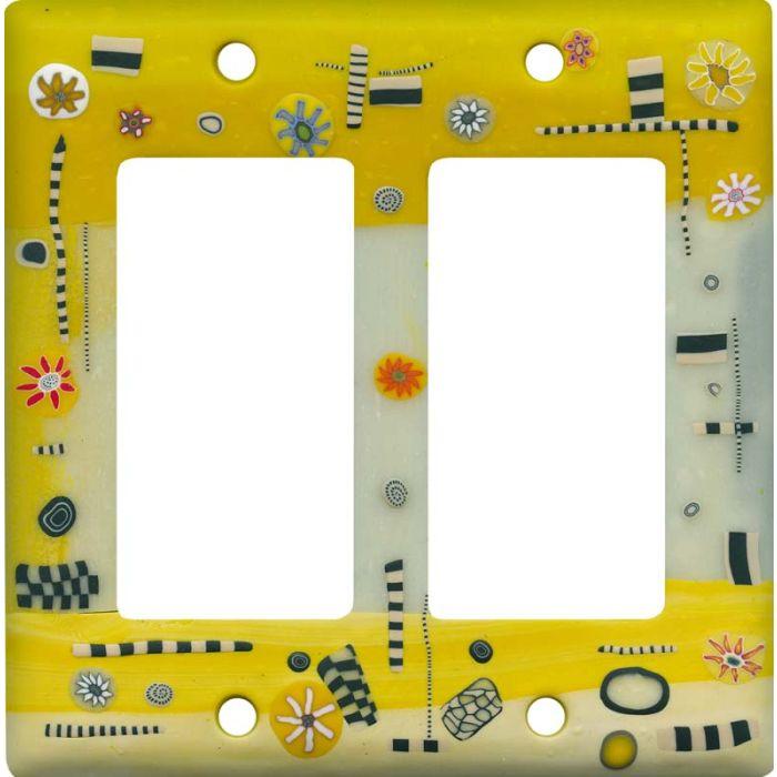 Dreamweaver Yellow 2 Gang Double GFCI Rocker Decorator Wallplates