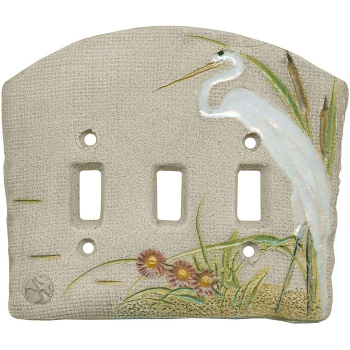 Egret Triple 3 Toggle Light Switch Covers
