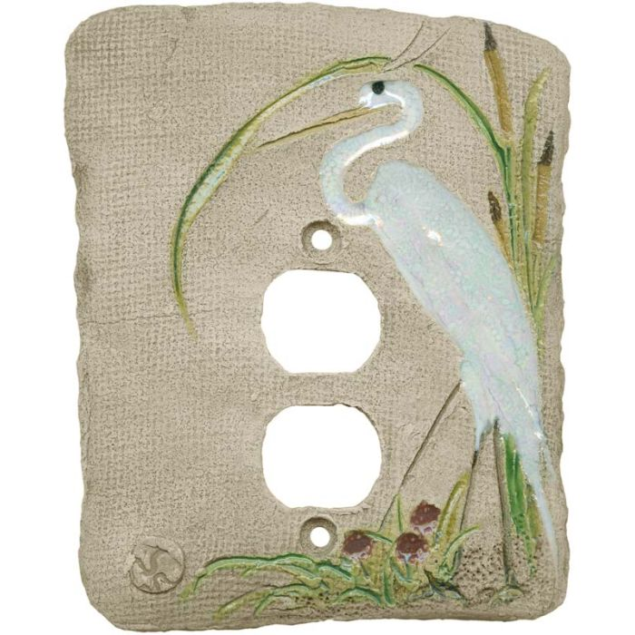 Egret 1 Gang Duplex Outlet Cover Wall Plate