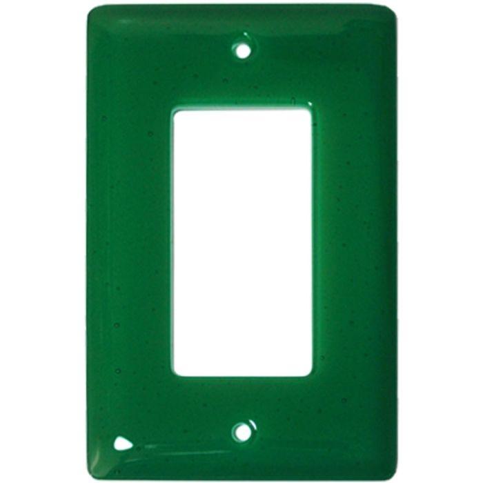 Emerald Green Glass Single 1 Gang GFCI Rocker Decora Switch Plate Cover