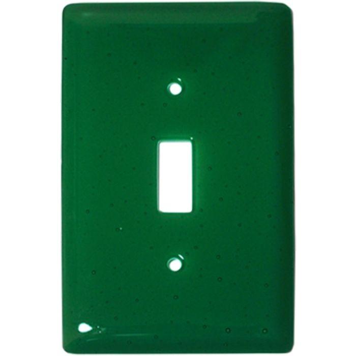 Emerald Green Glass Single 1 Toggle Light Switch Plates
