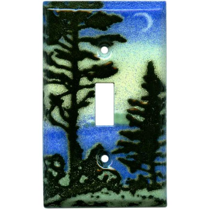 Evening Pine Single 1 Toggle Light Switch Plates