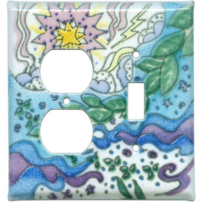 Evolution1-Duplex / 1-Toggle - Combination Wall Plates