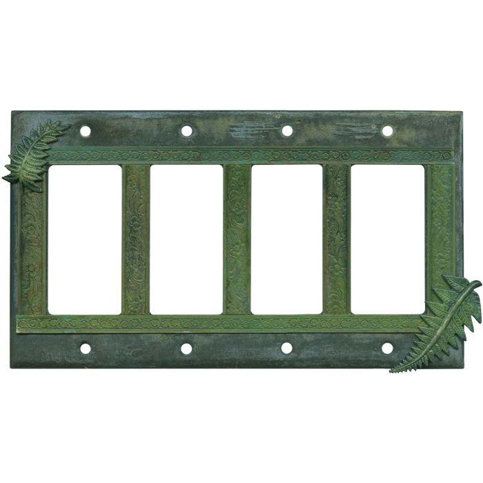 Fern 4 Rocker GFCI Decorator Switch Plates