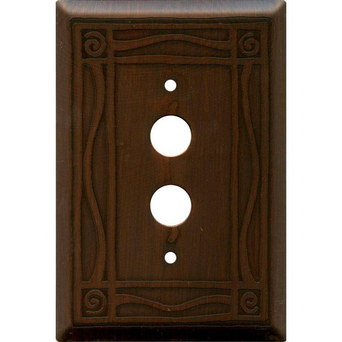 Border Antiqued Copper Border Antiqued Copper - 1 Push Button