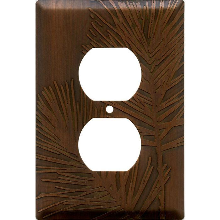Pine Antique Copper 1 Gang Duplex Outlet Cover Wall Plate