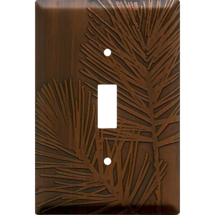 Pine Antique Copper Single 1 Toggle Light Switch Plates