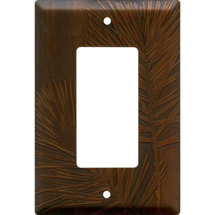 Pine Antique Copper Single 1 Gang GFCI Rocker Decora Switch Plate Cover