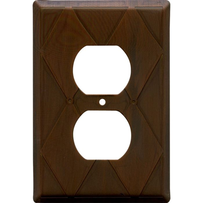 Harlequin Antique Copper 1 Gang Duplex Outlet Cover Wall Plate