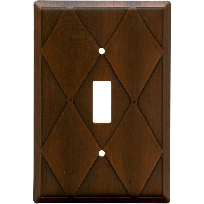 Harlequin Antique Copper Single 1 Toggle Light Switch Plates