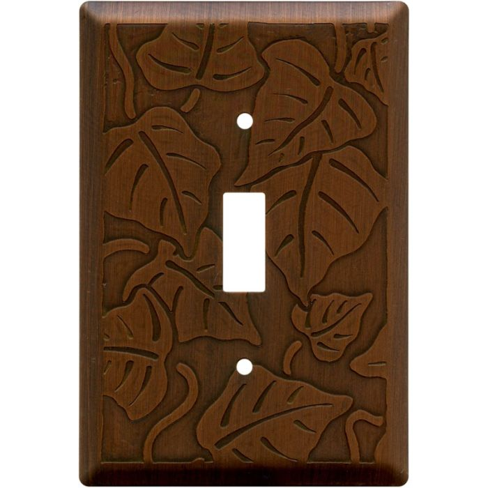Ivy Antique Copper Single 1 Toggle Light Switch Plates