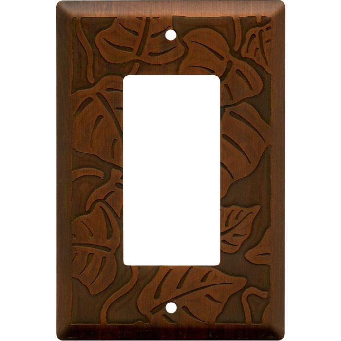 Ivy Antique Copper Single 1 Gang GFCI Rocker Decora Switch Plate Cover