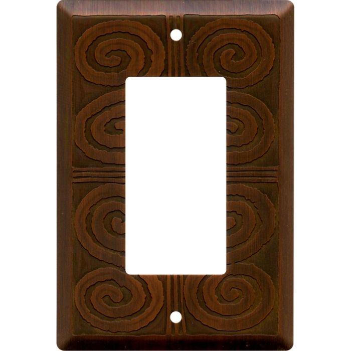 Morocco Antique Copper Single 1 Gang GFCI Rocker Decora Switch Plate Cover